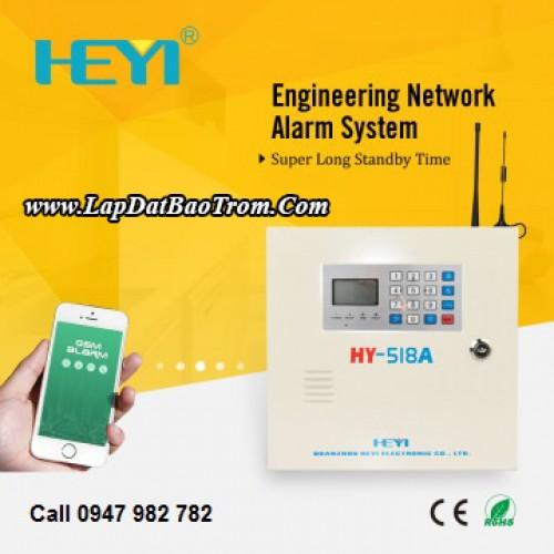 Tủ báo động HEYI HY-518A (PSTN), LINE điện thoại (báo trộm), đại lý, phân phối,mua bán, lắp đặt giá rẻ