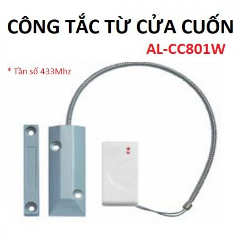 Công tắc từ báo động gắn cửa cuốn không dây AL-CC801W, đại lý, phân phối,mua bán, lắp đặt giá rẻ