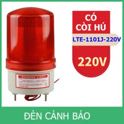 Đèn cảnh báo CÓ CÒI HÚ LTE-1101J điện 220V (Led nháy)