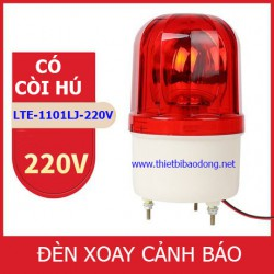 Đèn xoay cảnh báo và cứu hộ LTE-1101LJ có còi, điện 220VDC