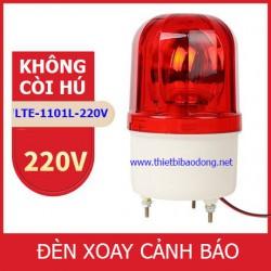 Đèn xoay cảnh báo và cứu hộ LTE-1101L không còi, điện 220VDC