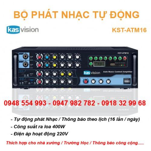 Bộ phát nhạc tự động KST-ATM16 kết hợp thông báo, đại lý, phân phối,mua bán, lắp đặt giá rẻ